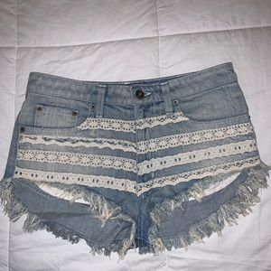 LF Carmar embroidered mini shorts